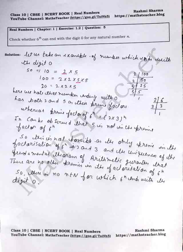 Class 10 Maths Chapter Real Numbers Exercise 1.3 Question 5