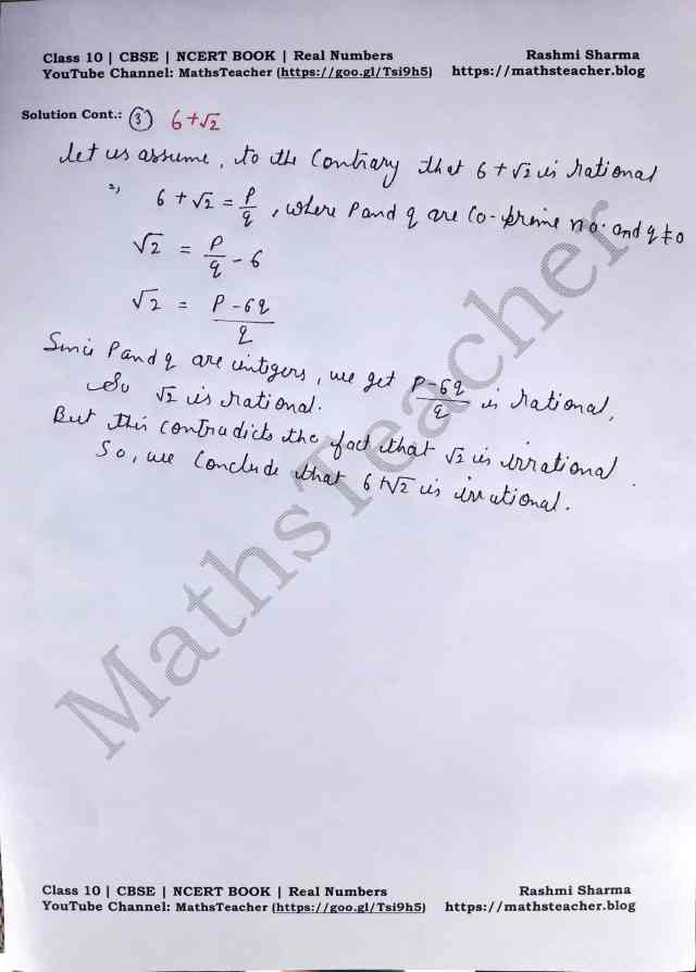 Class 10 Maths Real Numbers Exercise 1.3 Question 2 Part 2
