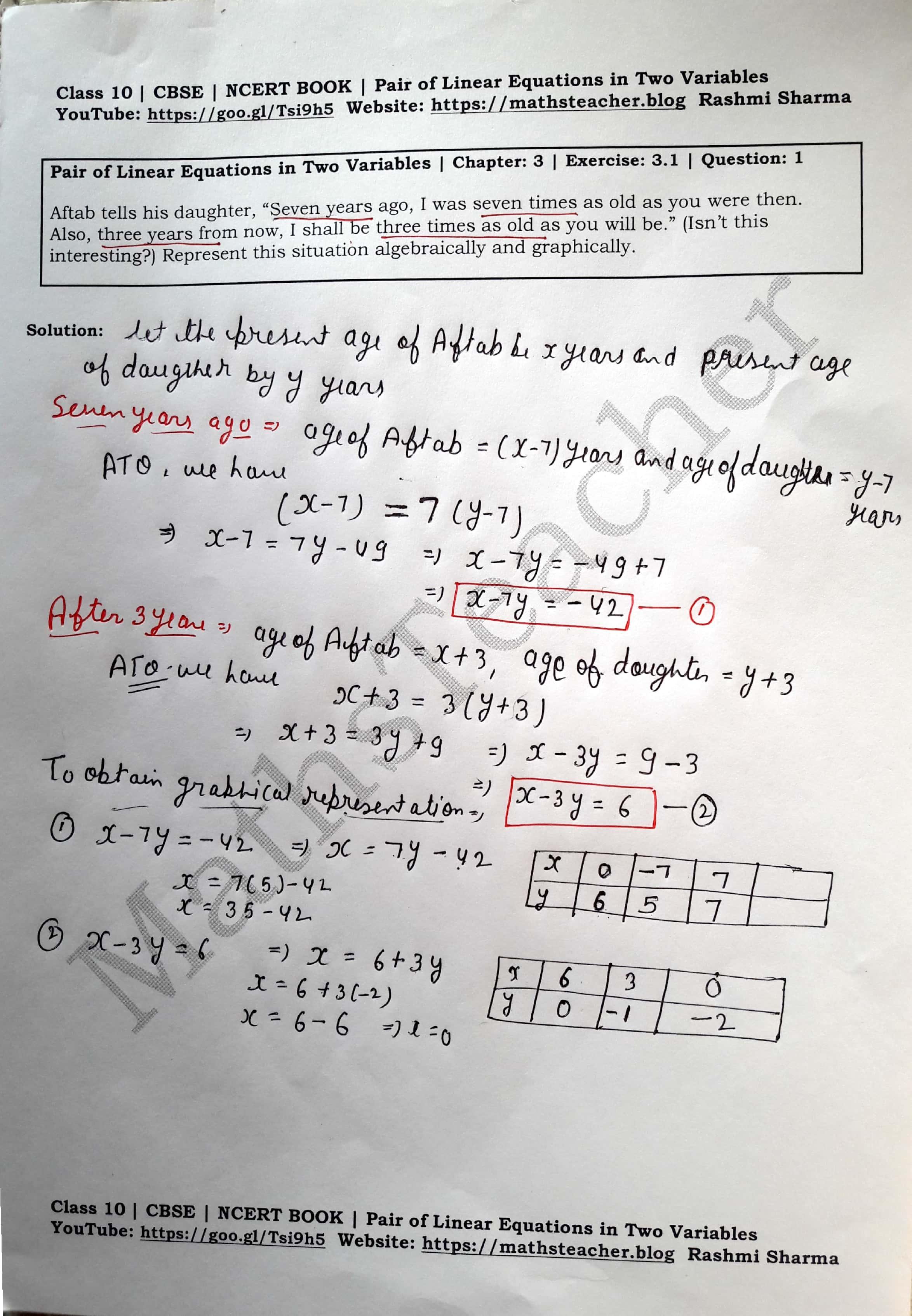 Ncert Solutions Class 10 Maths