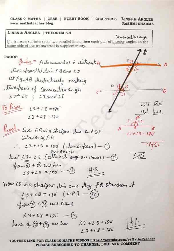 Class 9 Maths Theorem 6.4