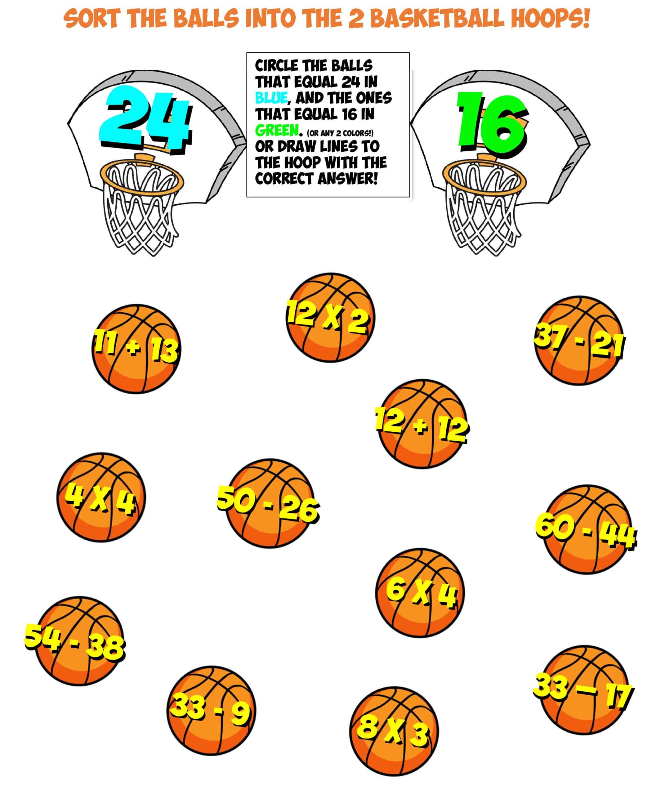 Basketball Sorting 5