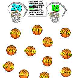 Fraction Basketball Worksheet   Printable Worksheets and Activities for  Teachers [ 2560 x 2086 Pixel ]