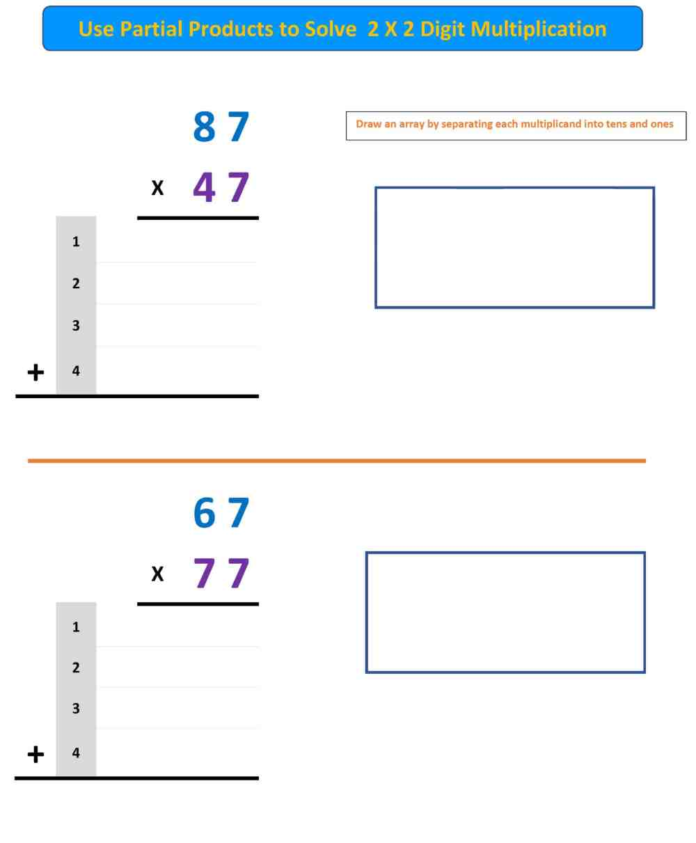 medium resolution of Partial Products Worksheet 4 - Mr. R.'s World of Math