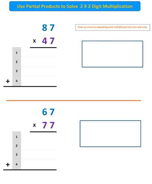 small resolution of Partial Products Worksheet 4 - Mr. R.'s World of Math