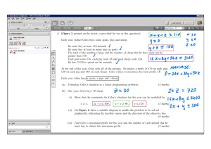 An example of online maths tuition for D1 Decision. The topic is linear programming.