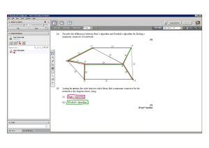 An example of online maths tuition for D1 Decision. The topic is the Prim and Kruskal algorithms.