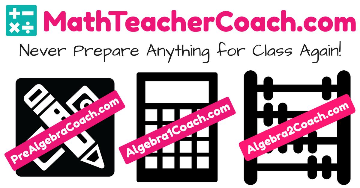 Pre-Algebra - Algebra 1 - Algebra 2