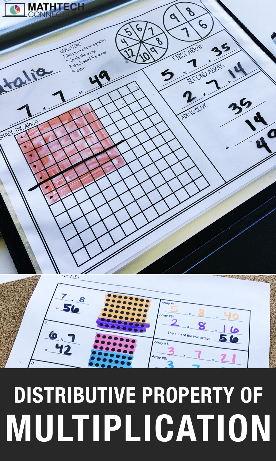 hight resolution of 4 Activities to Review the Distributive Property of Multiplication – Math  Tech Connections