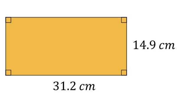 Perimeter of a Rectangle when L=31.2cm and W=14.9cm