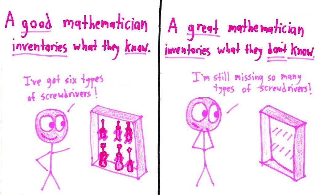 good mathematician vs great