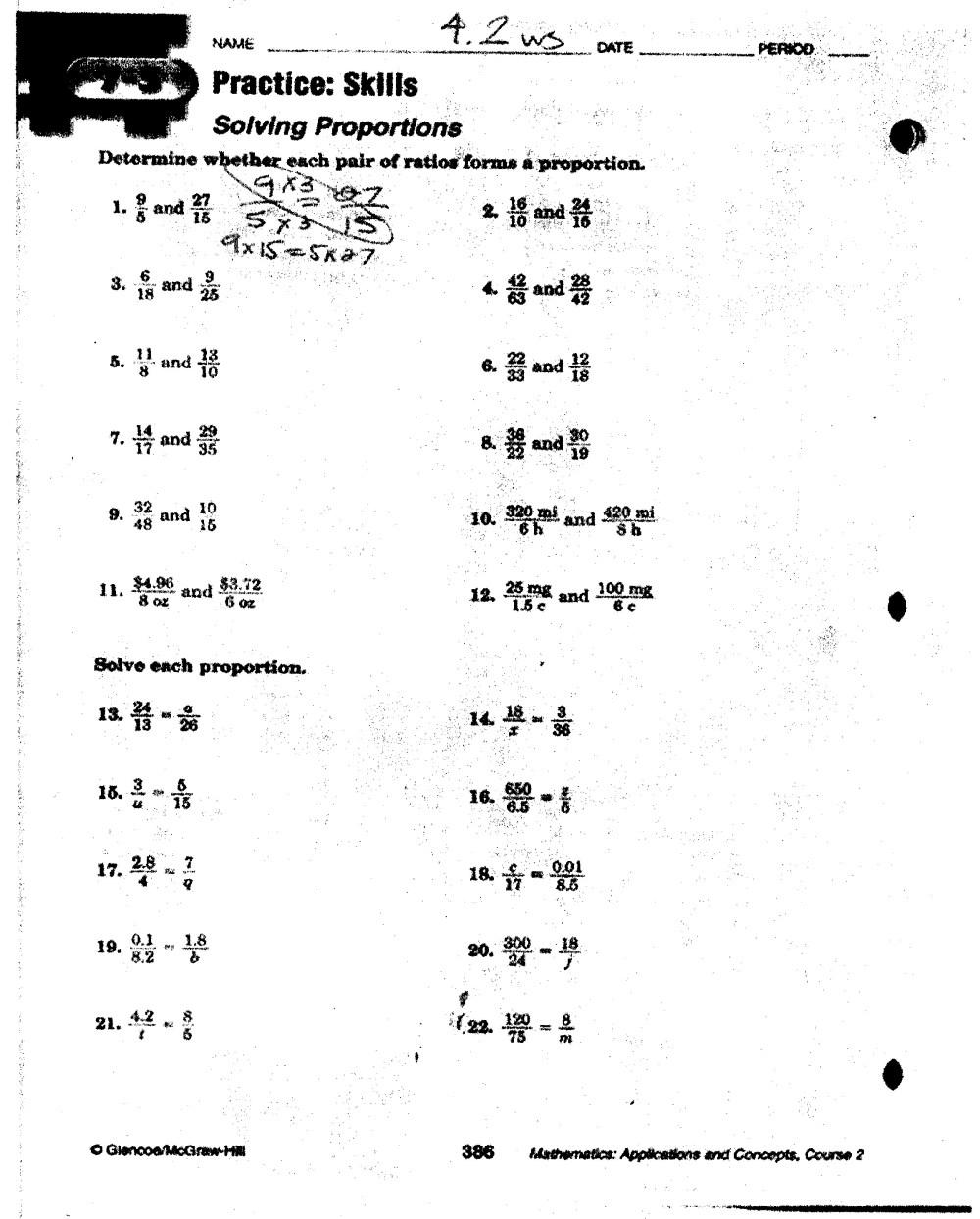 medium resolution of 34 Solving Proportions Worksheet Answers - Worksheet Resource Plans