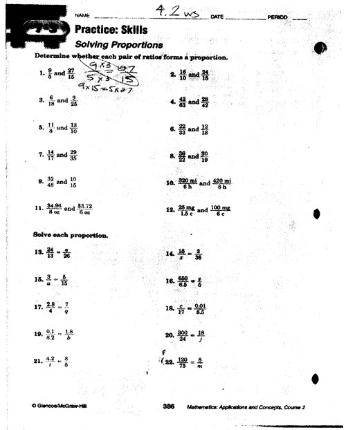 small resolution of 34 Solving Proportions Worksheet Answers - Worksheet Resource Plans