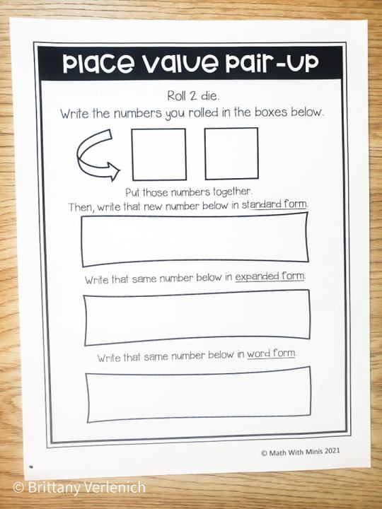 Best way to teach place value with place value practice worksheets dice games center activity ideas by Math With Minis