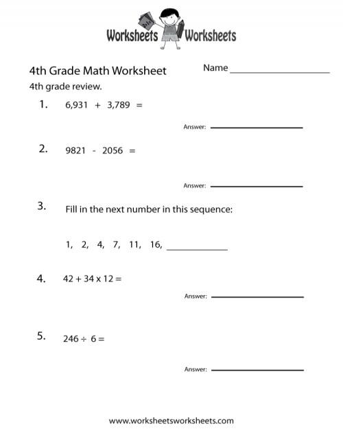 small resolution of Printable Fun Math Worksheets For 4Th Grade Free Printable – Math Worksheets  Printable