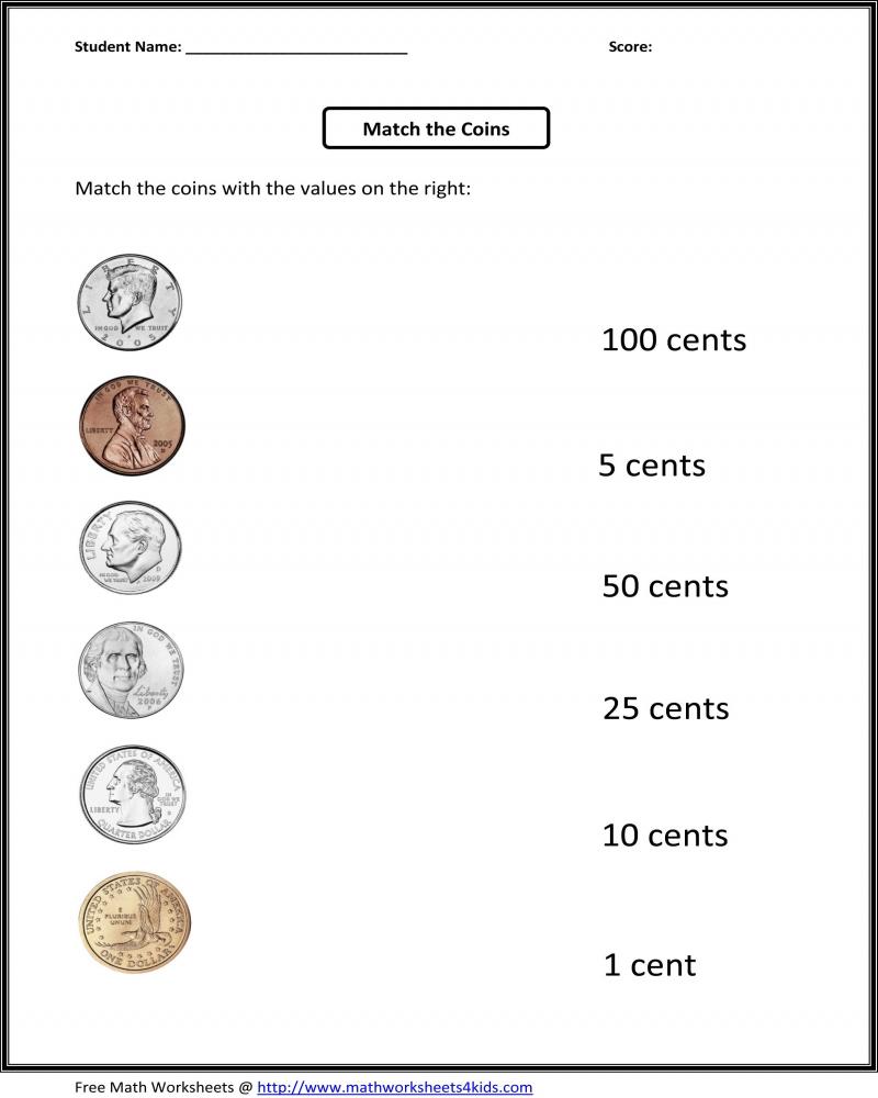 hight resolution of Free Printable Money Math Worksheets For Kindergarten   Math Worksheets  Printable