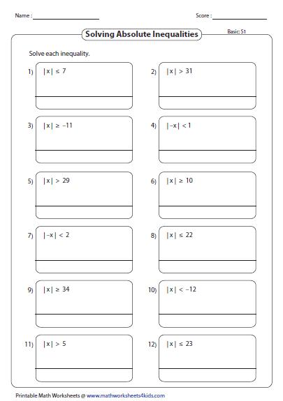 Pre School Worksheets » Ordering Numbers With Absolute Value Worksheets  Free Printable