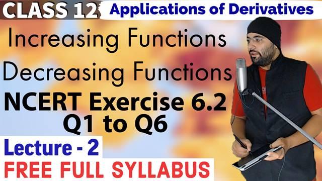 Exercise 6.2 Application of Derivatives Class 12 Maths Chapter 6