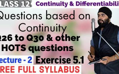 Continuity And Differentiability Class 12 Maths Chapter 5 Exercise 5.1