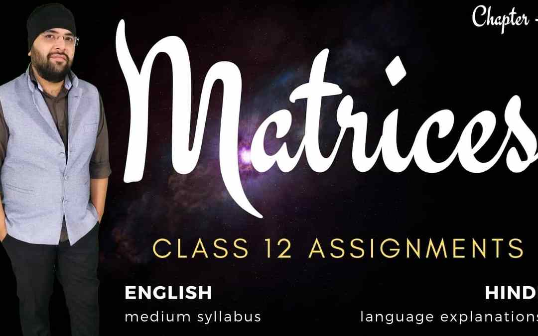 Ch03. Matrices Class 12 Assignments – 1Y
