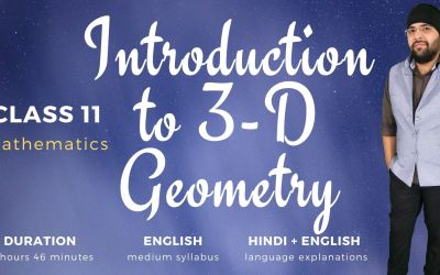 Ch12. Introduction to three dimensional geometry – 1Y