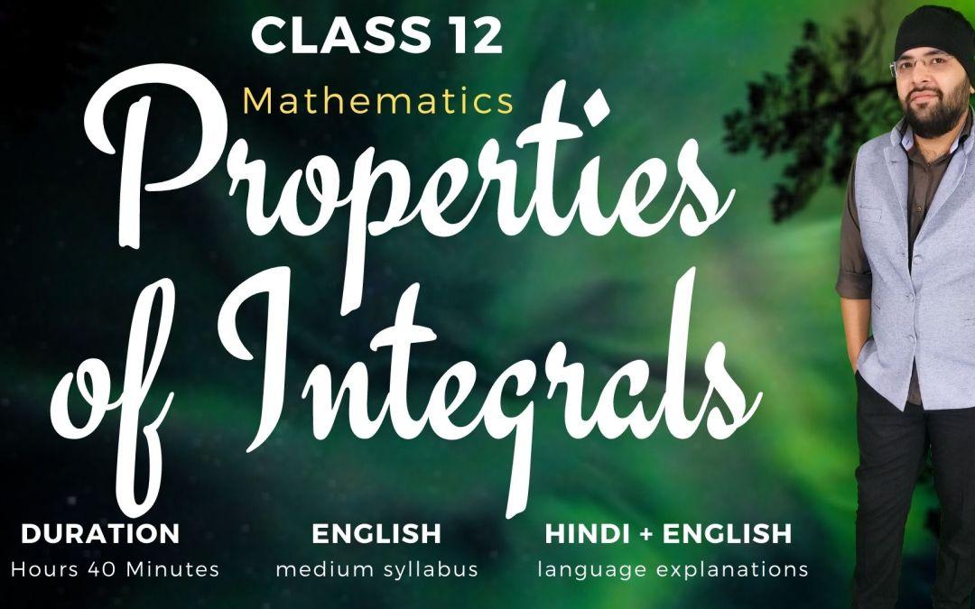 Ch07. Properties of Integrals – 1Y