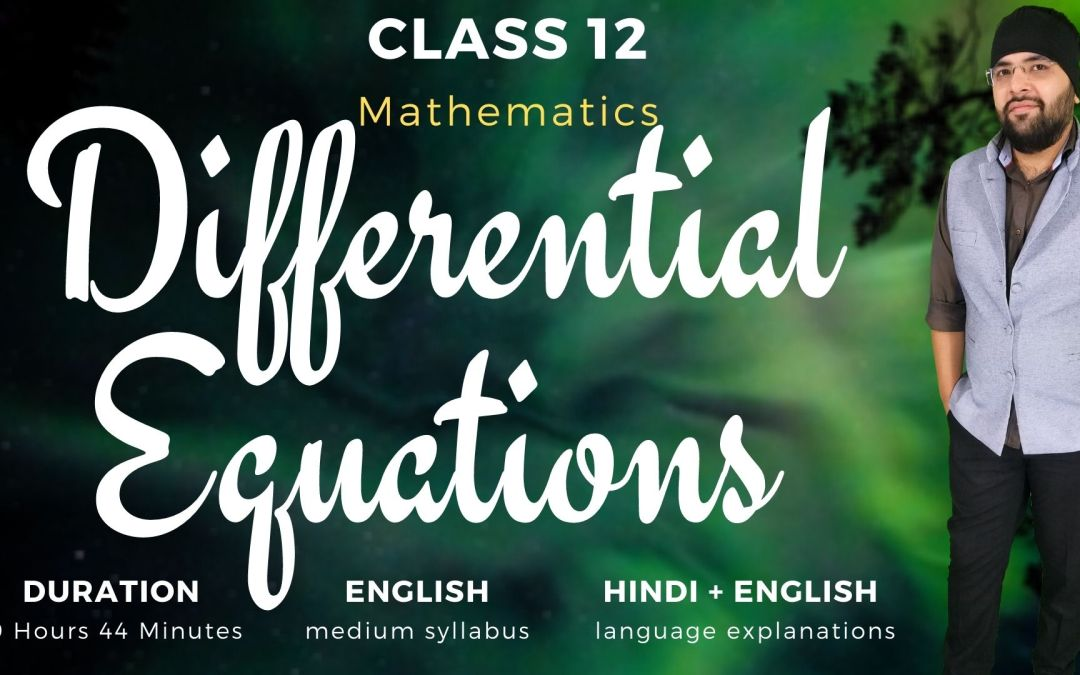 Ch09. Differential Equations – 1Y