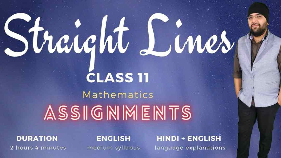 Straight Lines Assignments Class 11 Maths 1600px