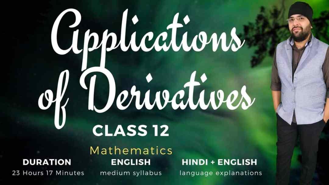 Applications of Derivatives Class 12 Maths 1400px