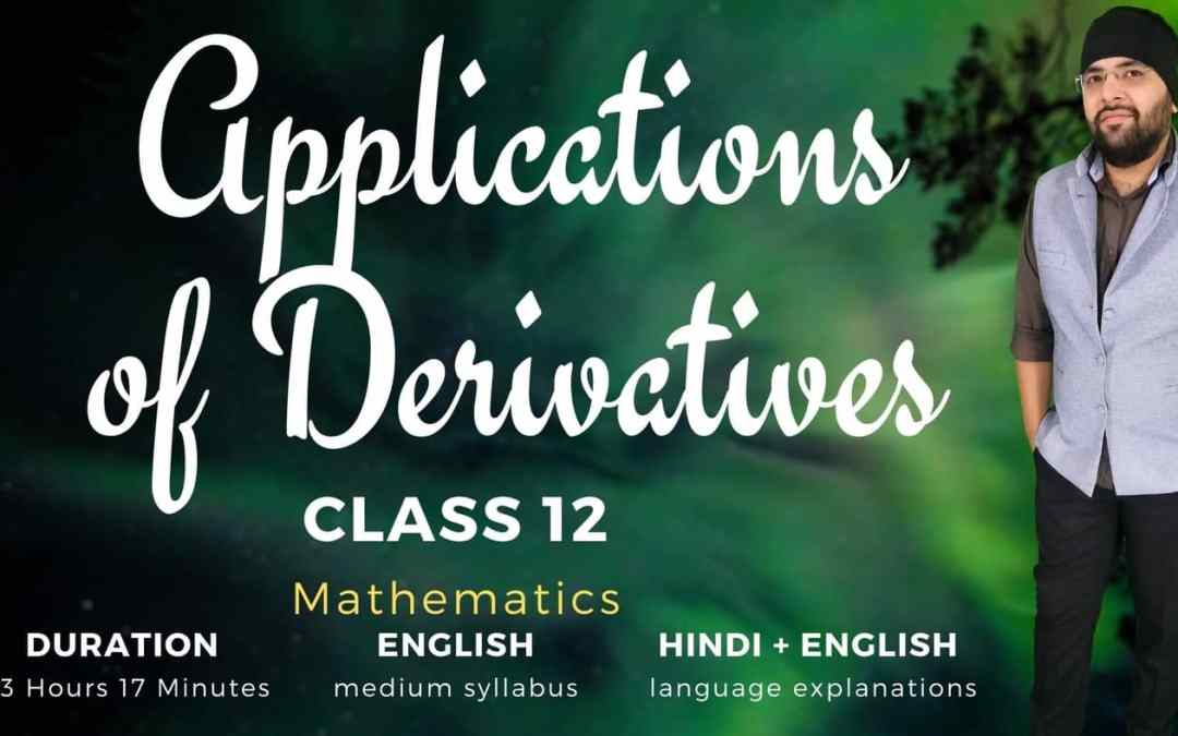 Ch06. Applications of Derivatives – 1Y