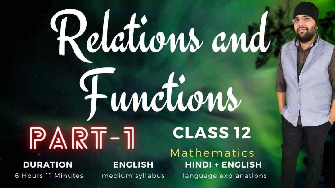 Relations and Functions Class 12 Maths Part 1 1400px