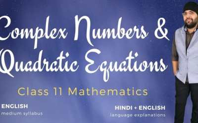 Ch05. Complex Numbers & Quadratic Equations – 1Y