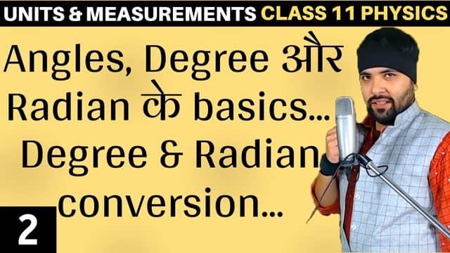 Basics of Angles Units and Measurements L2