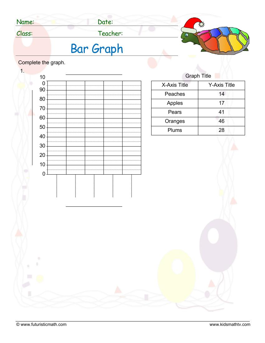 medium resolution of Free Graph Worksheets pdf printable   MATH ZONE FOR KIDS
