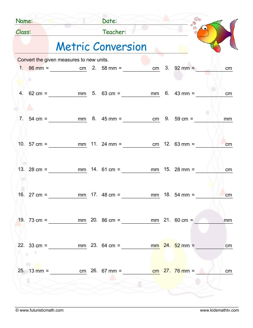 hight resolution of Measurement Math Worksheets pdf printable   MATH ZONE FOR KIDS
