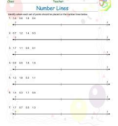 Number Line Worksheets pdf printable   MATH ZONE FOR KIDS [ 1100 x 850 Pixel ]