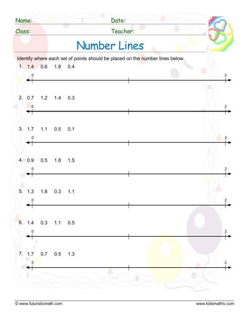 small resolution of Number Line Worksheets pdf printable   MATH ZONE FOR KIDS