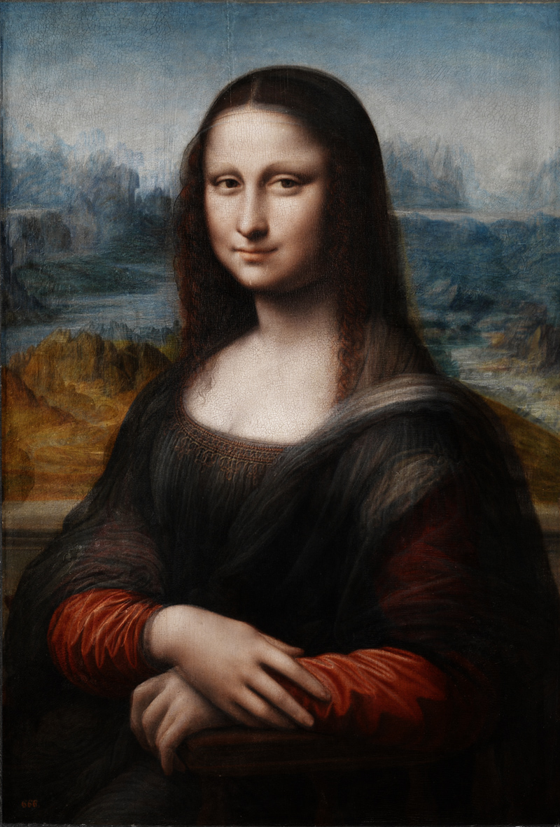 Reconstruction of hypothetical colours in original Mona Lisa.
