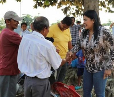 Alcaldesa de Baba, Sonia Palacios visitó el sector 27 de Noviembre