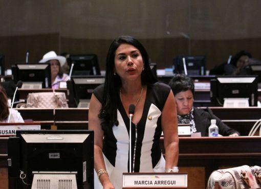 denuncia un supuesto acto de corrupción por parte de la asambleísta afín al actual gobierno, Marcia Arregui.