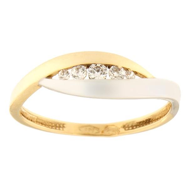Kullast sõrmus tsirkoonidega Kood: 100pt