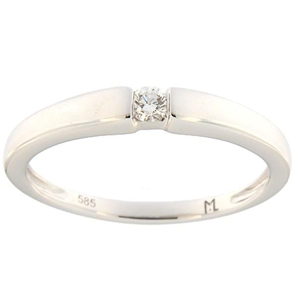 Kullast sõrmus teemantiga 0,07 ct. Kood: 104ak