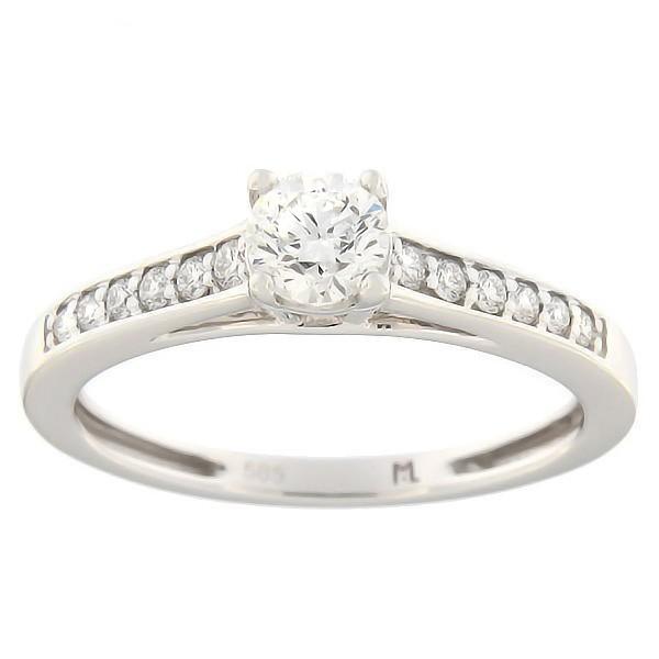 119d1f24f9e Kullast sõrmus teemantidega 0,53 ct. Kood: 116ak · Esileht / Ehted /  Kihlasõrmused ...