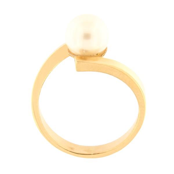 Kullast sõrmus mageveepärliga Kood: 121pt-1