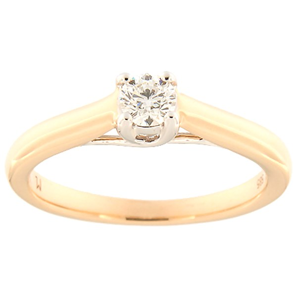 Gold ring with diamond 0,23 ct. Code: 130ak