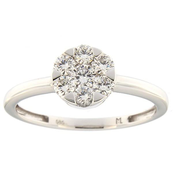 Kullast sõrmus teemantidega 0,50 ct. Kood: 134ak