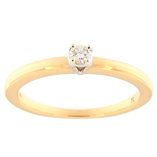 Kullast sõrmus teemantiga 0,09 ct. Kood: 149ak