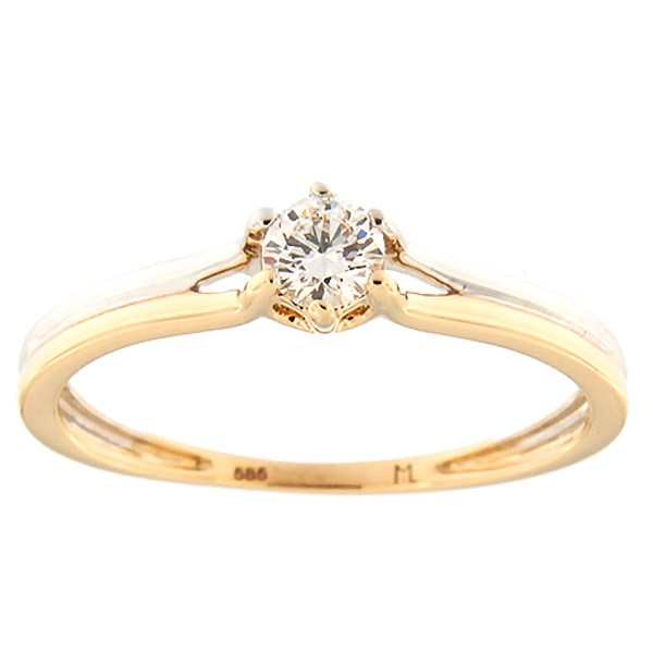 Gold ring with diamond 0,18 ct. Code: 158ak