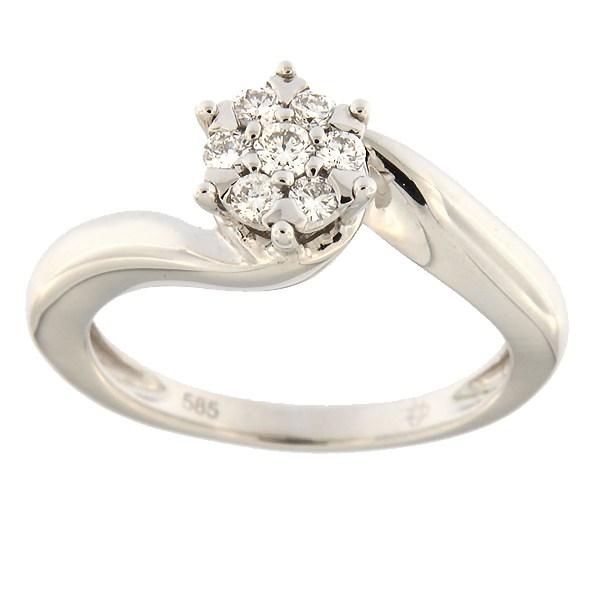 Kullast sõrmus teemantidega 0,20 ct. Kood: 17ax