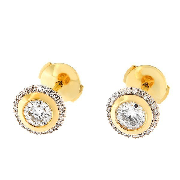 Gold earrings with diamonds 0,72 ct. Code: 20af