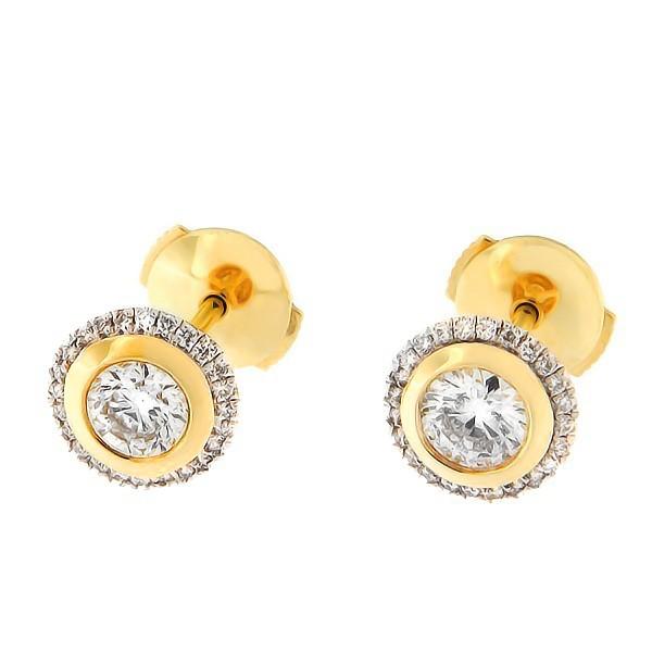 Золотые серьги с бриллиантами 0,72 ct. Kод: 20af